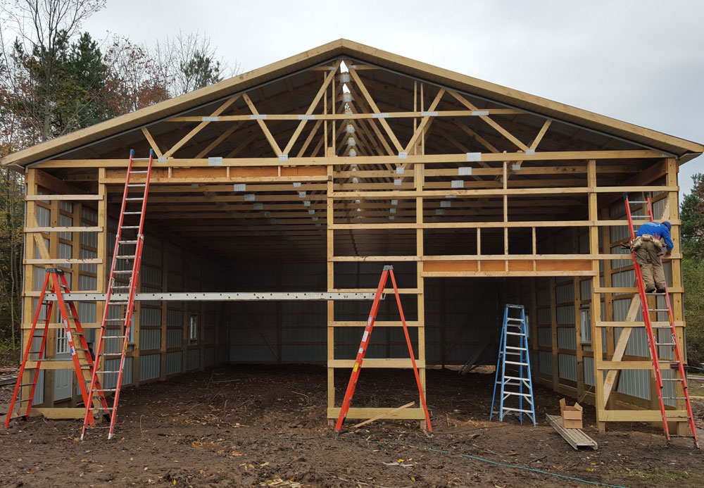 builders unnamed polar barn in construction barns lester pole projects ohio